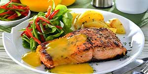 authentic-mexican-entrees-mayan-salmon-mango-sauce